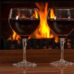 red wine, glasses, log fire-2443699.jpg